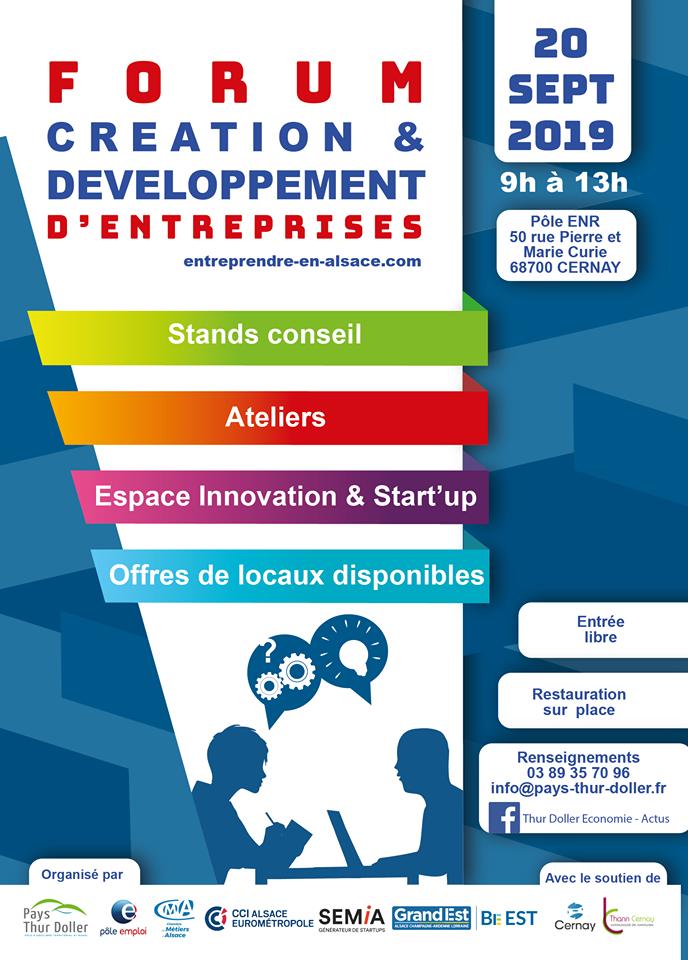Forum création et développement d'entreprises Cernay 21092019