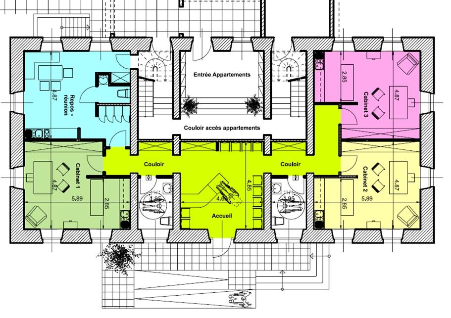 Plan d'ensemble projeté MédiSoppe